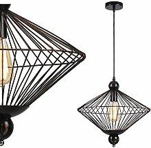 Retro Hängeleuchte Metall Gitter Lampenschirm E27