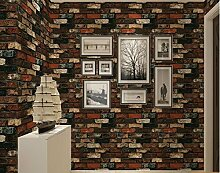 Retro - Hintergrundbild, 3D - Brick, Tapeten,