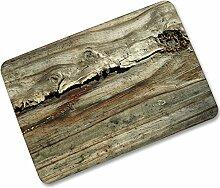 Retro Holz Fußmatte Türmatte Fußabstreifer