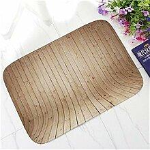 Retro-Holz-Reihe Dekorative Fußmatte Thick
