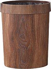 Retro Holzmaserung Mülleimer Home Wohnzimmer