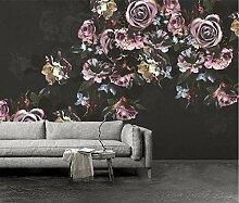 Retro Idyllisch 3D Tapeten -300Cmx220Cm Rose Blume