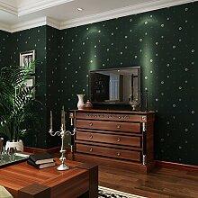 Retro im amerikanischen Stil, Vliestapeten, Zimmer der Britischen Plaid Kinder, Tapeten, Wohnzimmer, Schlafzimmer, Fernseher, Hintergrund, Wand, Tapete, schwärzlich grün
