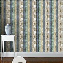 Retro Imitation Holz Korn Vlies Tapete Home Decor Wallpaper , 1