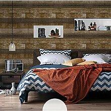 Retro Imitation Holz Korn Vlies Tapete Home Decor Wallpaper , 4
