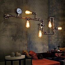 Retro Industriell Lampe Wandleuchte E27 mit 5