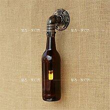 Retro industrielle Wallpaper nostalgische Riemen Wallpaper Cafés/Bars/Restaurants/Restaurants Sanitär Glasflaschen Wände, Braun Bronze