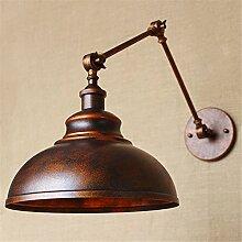 Retro industrielle Wandlampe kreative nostalgische Dekoration Wandleuchte Studie / Schlafzimmer / Wohnzimmer Wandleuchte