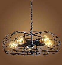 Retro industrieller Wind-Eisen personifizierte kreative Ventilator-Decken-Kronleuchter ( design : A )