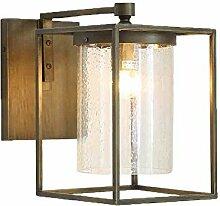Retro/Innen/Außen-Wandleuchte europäischen Industriellen Retro Armee Grün Eisen Wandleuchte, Balkon Innenhof Lampe Outdoor Lampen praktische und langlebige Lampen