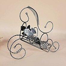 Retro Iron Fashion Kreatives Weinregal, klein und