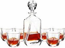 Retro Kristallglas Whisky Cup Haushaltsweinflasche
