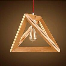 Retro Kronleuchter / E27 * 1 Lampe/Nordic Holz