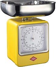 Retro - Küchenwaage mit Uhr - Lemonyellow