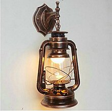 Retro Laterne Lampe Eisen Bar wasserdichte Outdoor