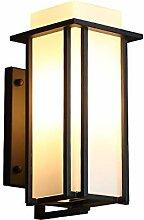 Retro LED Außen-Wandleuchte Schwarz Aluminiumguss