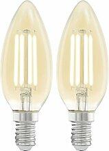 Retro LED Filament Vintage Leuchtmittel, Candle, E14 4.0 wattsW