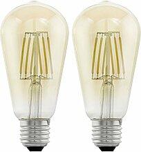 Retro LED Filament Vintage Leuchtmittel, Large Pear, E27 4.0 wattsW