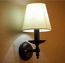 Retro Lichtminimalist Lighting Wall Lamp, schwarze