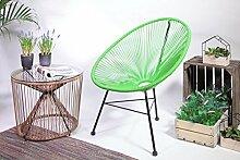 Retro Lounge Sessel Acapulco Mexiko Design Indoor & Outdoor Grün