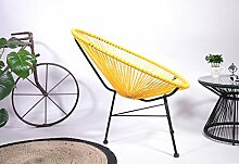 Retro Lounge Sessel Acapulco Mexiko Design Indoor & Outdoor Rahmen & Füße Pulverbeschichtet; Farbe Gelb