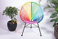 Retro Lounge Sessel Acapulco Mexiko Design Indoor & Outdoor Rahmen & Füße Pulverbeschichtet; Farbe Bun