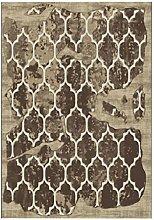 Retro Luxus Teppich Matte Matte Tür Matten Couchtisch braun gemischt Material rechteckig 160 * 80 cm Pflanze Blumenmuster Verschleiß-resistent Anti-Rutsch-Bett Seite Pedal-Pad 0,8 cm dicke abstrakte Stil zu Hause