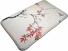 Retro Maple Leaves Badezimmer Dekor Teppich