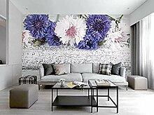 Retro moderne IKEA Art Blume Holzmaserung Tapete