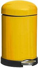 Retro Mülleimer 20L Gelb