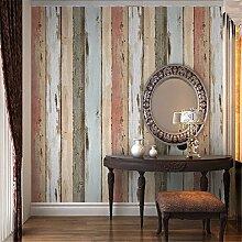 Retro Nostalgie Holz meliert Farbe Tapeten Individualität Bar Restaurant Dress Shop vertikale fringe Tapete,A