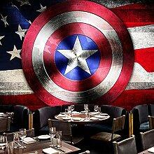 Retro nostalgische Captain Wallpaper Avengers