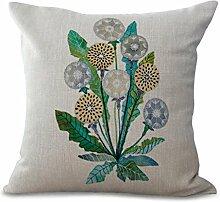 Retro Pflanze Druck Baumwolle Leinen Sofa weichen