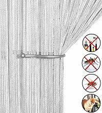 Retro plaintassel T¨¹r Vorhang Insektenschutz Saite f¨¹r T¨¹ren Trennwand oder Fenster Vorhang Panel 90?x 200?cm, Fliegengitter Panel wei?