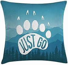 Retro Poster Throw Pillow Cushion Cover,