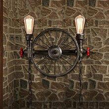 Retro Räder Wandleuchte Wasser Rohr Lampe Vintage