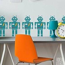 Retro Roboter Schablone Jungen Roboter