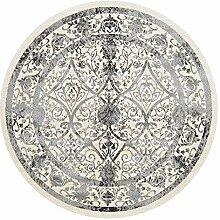 Retro- runder Teppich, nordische