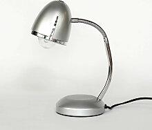 Retro Schreibtischlampe in Silber