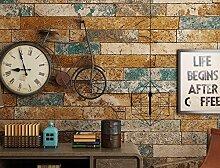 Retro - Sehnsucht, Der Wind, Tapeten, 3D - Brick, Tapeten, Graffiti - Bar, Ktv Milch, Tee - Geschäft, Café Tapete,Ein