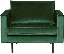 Retro Sessel in Grün Samtbezug