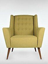 Retro Sessel Polstersessel Westhampton almond-gruen 83 x 95 x 73 cm roombird