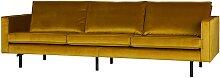 Retro Sofa in Gelb Samtbezug