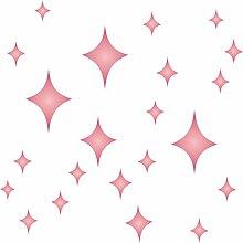 Retro Star Schablone-wiederverwendbar