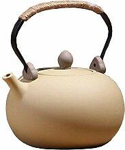 Retro Steinzeug Elektrokeramikofen Teekanne