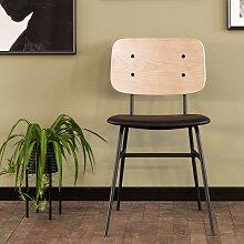 Retro Stühle in White Wash und Schwarz