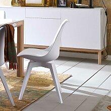 Retro Stuhl in Weiß Esszimmer (2er Set)