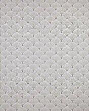 Retro Tapete EDEM 1031-10 Vinyltapete geprägt mit grafischem Muster glitzernd weiß grau 5,33 m2