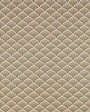 Retro Tapete EDEM 1031-11 Vinyltapete geprägt mit grafischem Muster glitzernd weiß bronze 5,33 m2