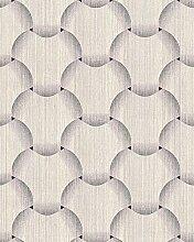 Retro Tapete EDEM 1035-14 Vinyltapete strukturiert mit grafischem Muster glitzernd creme beige braun 5,33 m2